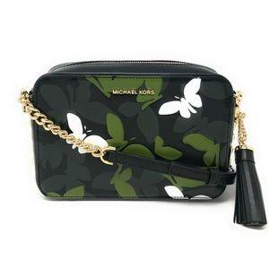 Michael Kors Medium Camera Bag Leather Crossbody
